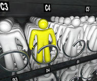 People Choices Snack Vending Machine Choice stock illustration