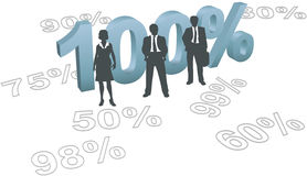 People choose 100 per cent quality effort. Business human resources management people ready to give all out 100 per cent effort Stock Photo