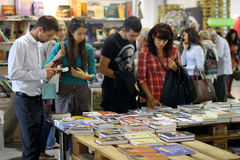 People Choose The Books At Festival Royalty Free Stock Image