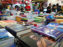 People choosing book at Bangkok International Book Fair 2015 Stock Image