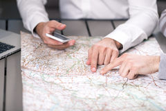People Choosing Destination Travelling Concept Stock Photos