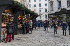 People at the Christmas Fair near Stephansdom, Vienna Stock Photos