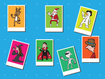 People Christmas and Halloween Royalty Free Stock Photography