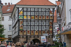 People at the Christmas market in Hattingen Royalty Free Stock Photography