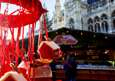 People at Christmas market near Rathaus ( City Hall ), Vienna, 2 Stock Photos