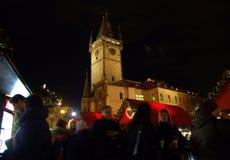 People at Christmas market Prague Royalty Free Stock Image