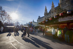 People at Christmas market, Vienna Stock Image