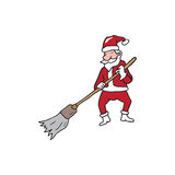 People Christmas Santa broom house Stock Photos