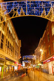 People Christmas shopping, Clumber Street, Nottingham. Royalty Free Stock Photos