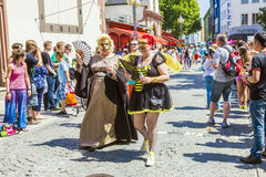 People at christopher street day in Frankfurt Royalty Free Stock Image
