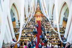People in church Stock Photo