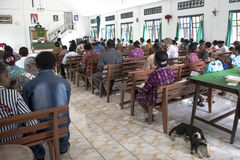 People in church, West Papua Royalty Free Stock Photo