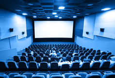 People in a cinema Royalty Free Stock Photography