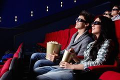 People in the cinema Stock Image