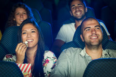 People in Cinema Royalty Free Stock Photography