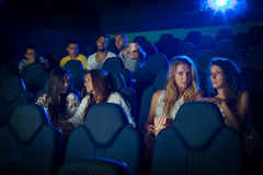 People in Cinema Stock Image