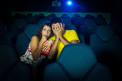 People in Cinema Royalty Free Stock Photo