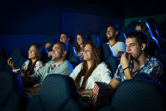 People in Cinema Royalty Free Stock Images