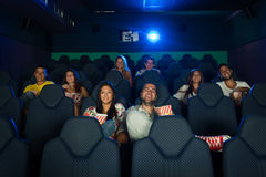 People in Cinema Stock Photo