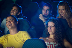 People in Cinema Royalty Free Stock Image