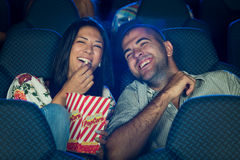 People in Cinema Stock Images