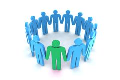 People in circle Stock Photo