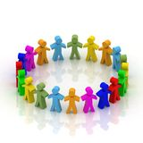 People in  circle Royalty Free Stock Photo