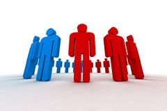 People in circle. Outsiders - 3d illustration Royalty Free Stock Photography