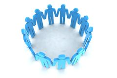 People in circle Royalty Free Stock Photos