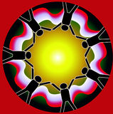 People Circle. Abstract colorful background on people circle Royalty Free Stock Images