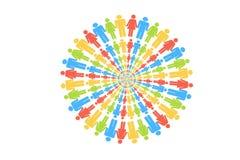 People Circle Gather Around on white background. Colors People Circle Gather Around People Circle Gather Around on white background royalty free illustration
