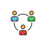 People circle, group of users filled outline icon, colorful vector sign Royalty Free Stock Image