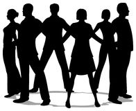 People circle silhouette Royalty Free Stock Image