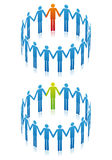 People in circle, vector Stock Images