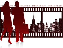People and city. Illustration of people and city Stock Image