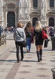 People in city centre in Milan Stock Images