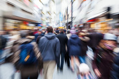 People in the city with creative zoom effect Royalty Free Stock Photo