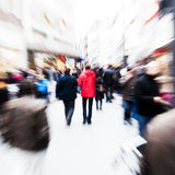 People in the city with creative zoom effect Royalty Free Stock Images