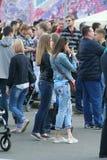 People on a city holida. Y in Irkutsk, Siberia, Russia Stock Image