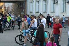 People on a city holida. Y in Irkutsk, Siberia, Russia Stock Photo