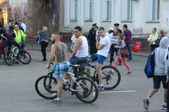 People on a city holida. Y in Irkutsk, Siberia, Russia Stock Images
