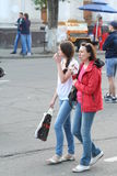 People on a city holida. Y in Irkutsk, Siberia, Russia Stock Photography