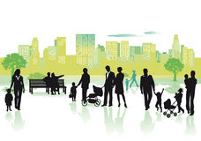 People in the city stock illustration
