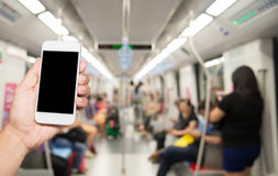People in the city, life, addictive Smartphone.  Stock Image