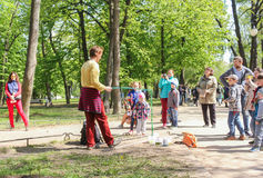 People in the city park. Royalty Free Stock Photography
