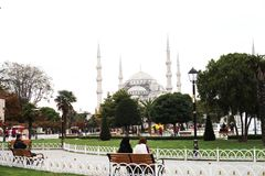 Turkey, Istanbul 10.22.2016 - People on city street of Istanbul royalty free stock photos