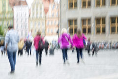 People in the city with zoom effect Stock Image