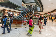 People CityGate Outlet shopping mall Tung Chung Wan Lantau islan Royalty Free Stock Photography