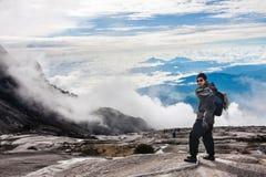 People Climbing Kinabalu mount Royalty Free Stock Photography