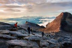 People Climbing Kinabalu mount Royalty Free Stock Image